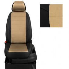 Авточехлы из экокожи на ППУ 5 мм для Hyundai Creta, черный+бежевый