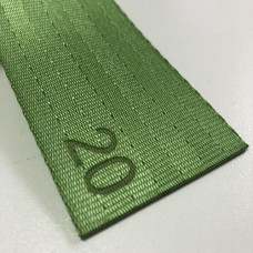 Лента ремня безопасности 20 лайм (зеленый)
