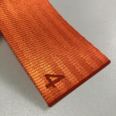 Лента ремня безопасности 04 оранжевая