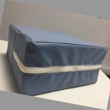 Медицинский кожзам, искусственная кожа сине-серый