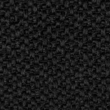 Рогожка обивочная ткань для мебели Baltimore 100 black,  черный