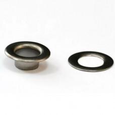 Люверс, универсальный крепеж, темный никель, диаметр 14 мм
