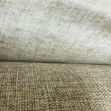 Рогожка обивочная ткань для мебели негорючая бежево-коричневая крафт 32