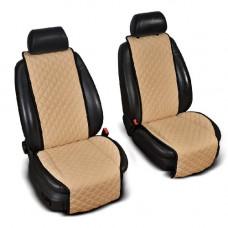 Накидки на сиденья авто бежевые (комплект, 2 передних)