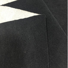 Велюр диагональ на ппу 2 мм, черный